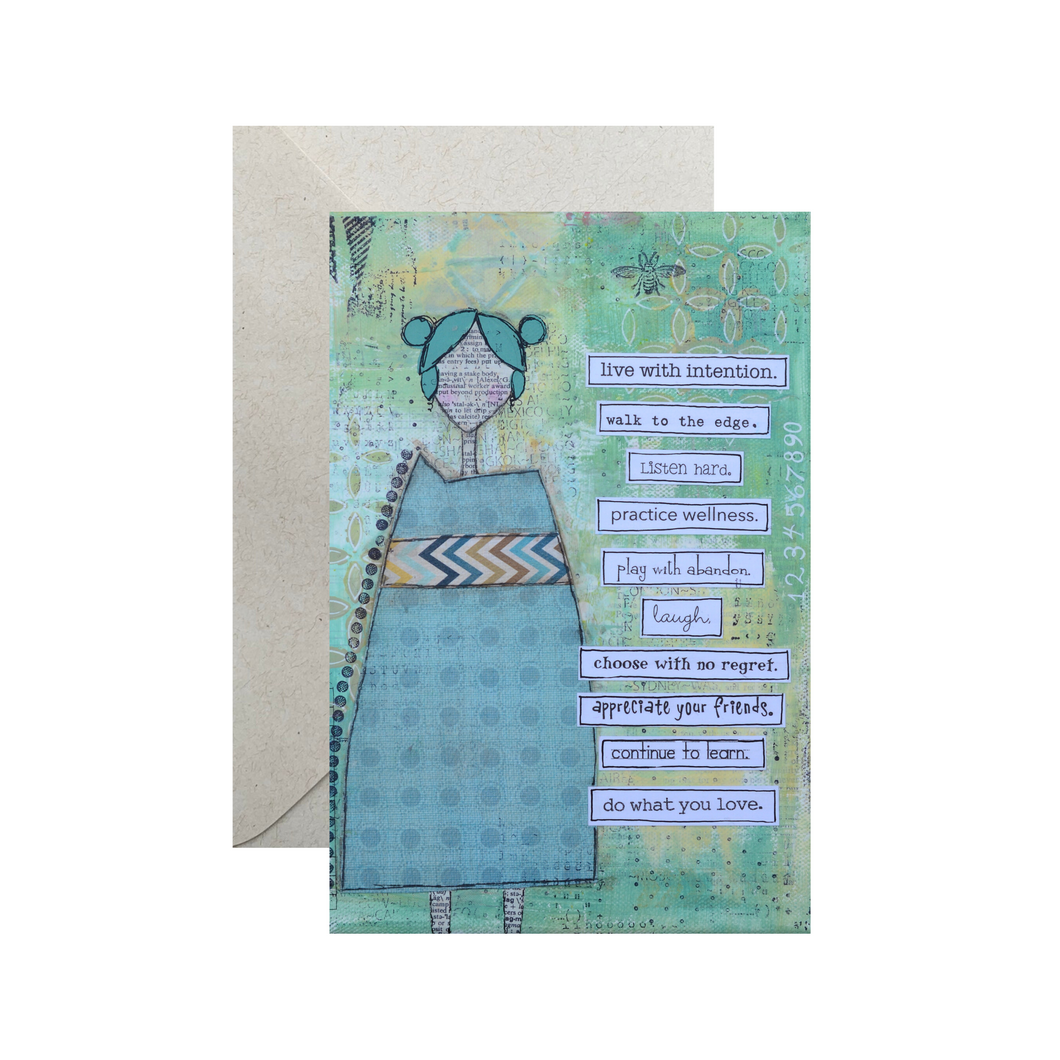 live with intention… inspirational card
