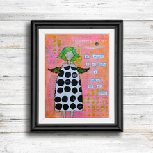 Load image into Gallery viewer, be present… inspirational print