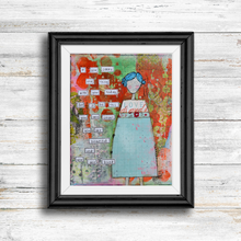 Load image into Gallery viewer, you are loved… inspirational print