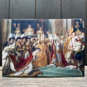 napoleon & joséphine, louvre... resin on wood