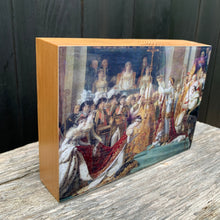 Load image into Gallery viewer, napoleon & joséphine, louvre... resin on wood