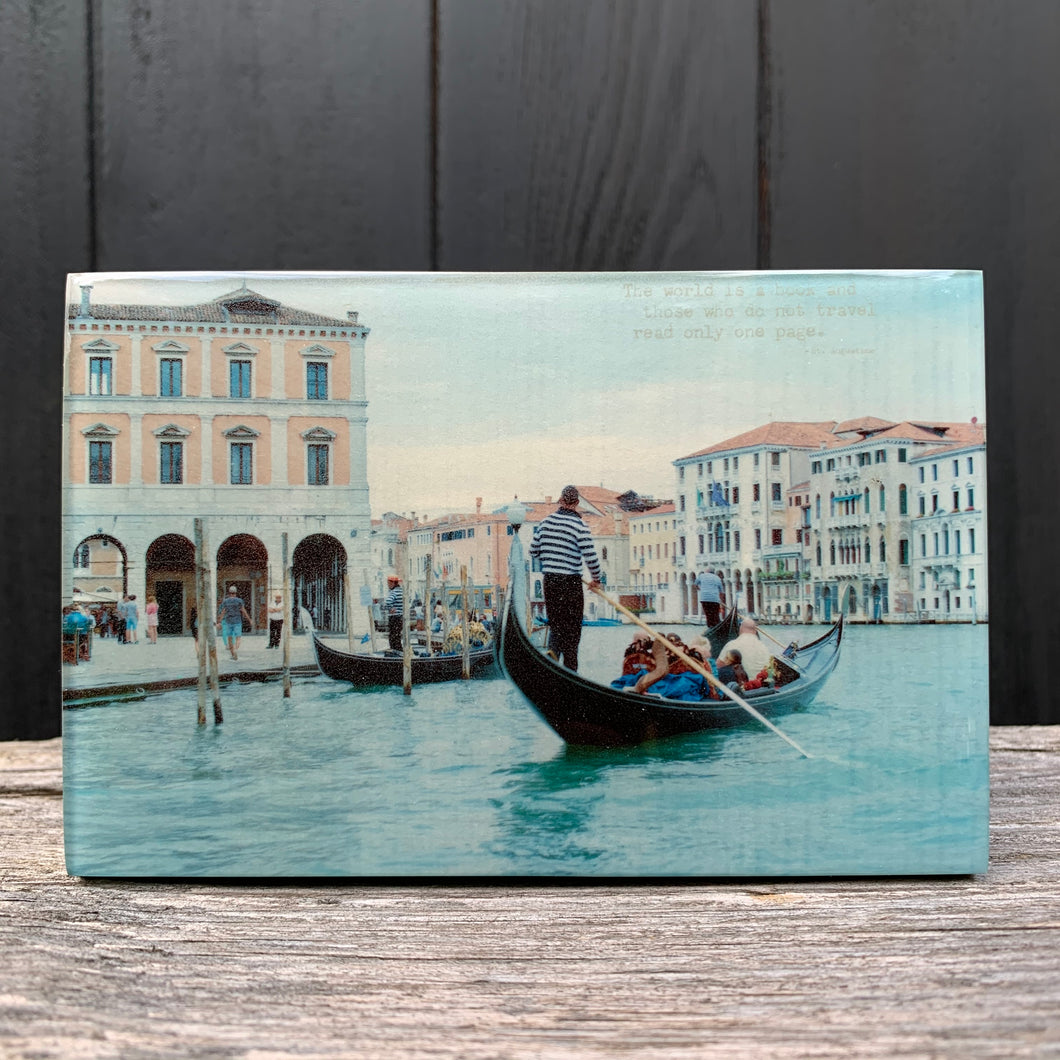 gondolas... resin on wood