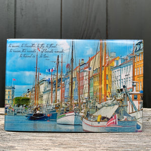 nyhavn, denmark... resin on wood