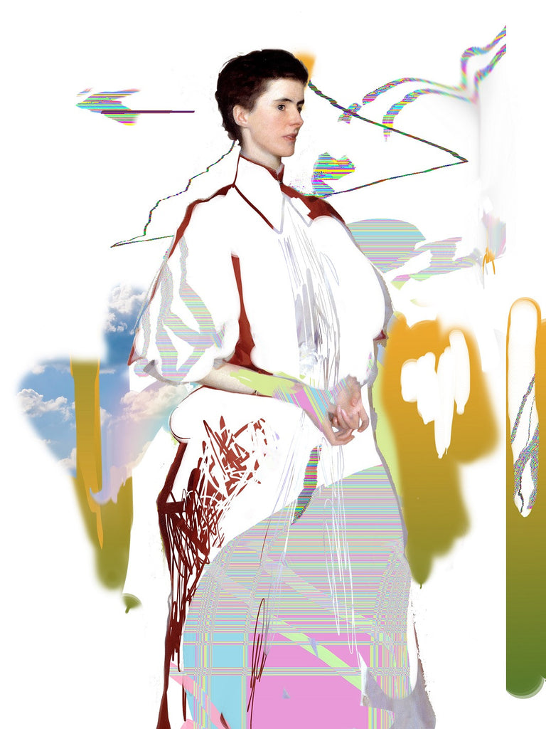 Study of Mrs Harrison (after Sargent)