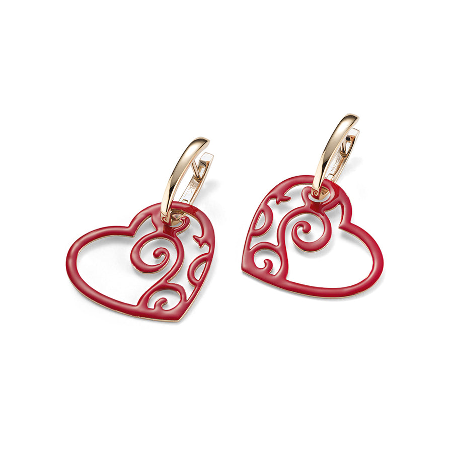 Siriana heart earrings