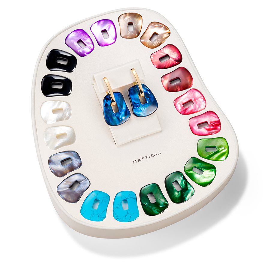 Puzzle medium earrings 11 colours gift box