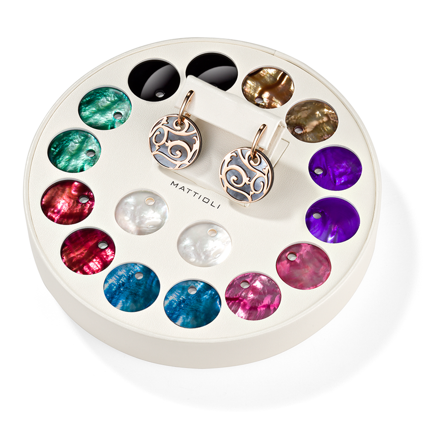Siriana earrings giftbox 9 colours (25 mm)