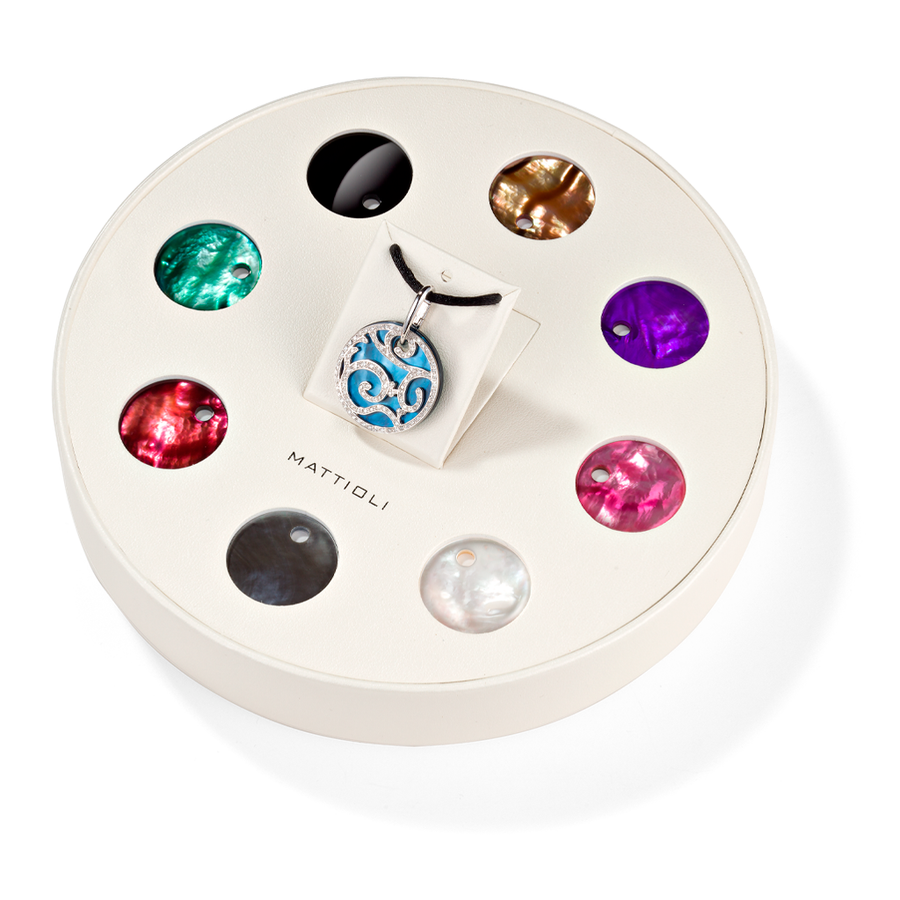 Siriana pendant giftbox 9 colours (25mm)