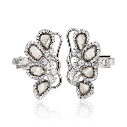 Grey Diamond Ear Cuffs