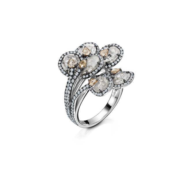 Blossom Sliced Diamond Ring