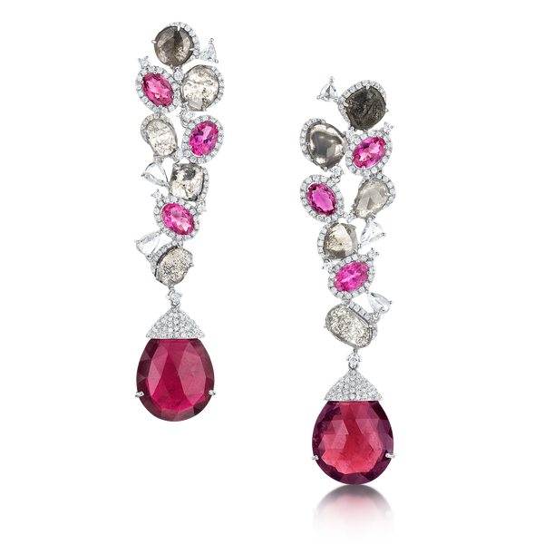 Diamond and Tourmaline Earrings