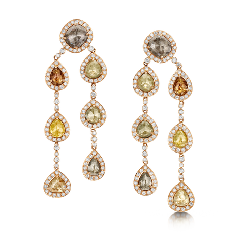 Fifteen Carat Diamond Drop Earrings