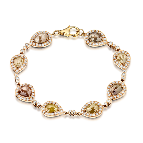 Pear Drop Diamond Bracelet