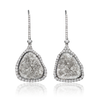 Pear Drop Diamond Slice Earrings