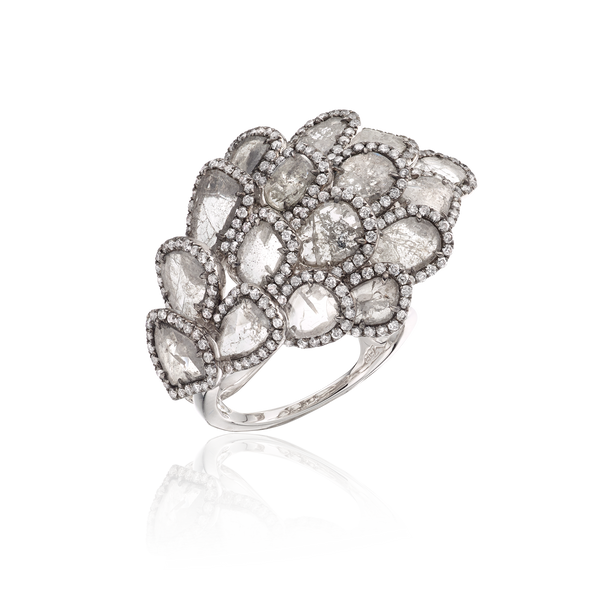 Seashell Diamond Ring