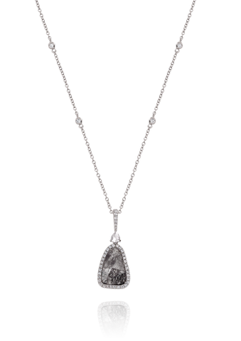 Sliced Diamond Necklace