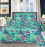 Multi Triangle- Bed Sheet Set