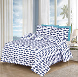 Blue Fishes-Bed Sheet Set