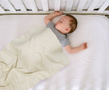 Cream Solid-Baby Receiving Blanket