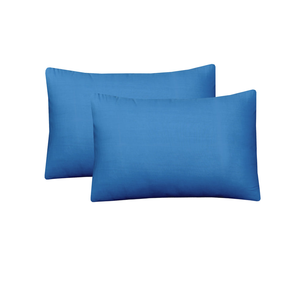 Teal Blue-Pack of 2 Pillow Cases