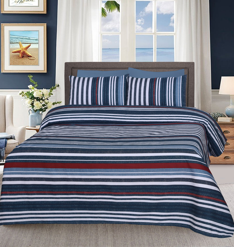 Jeans Marl Streaks- Bed Sheet Set
