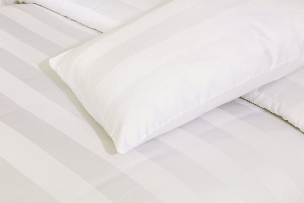 Behrens Cream Wide Stripe-Pack of 2 Pillow Cases