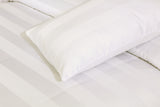 Behrens Cream Wide Stripe-Bed Sheet Set-Sateen
