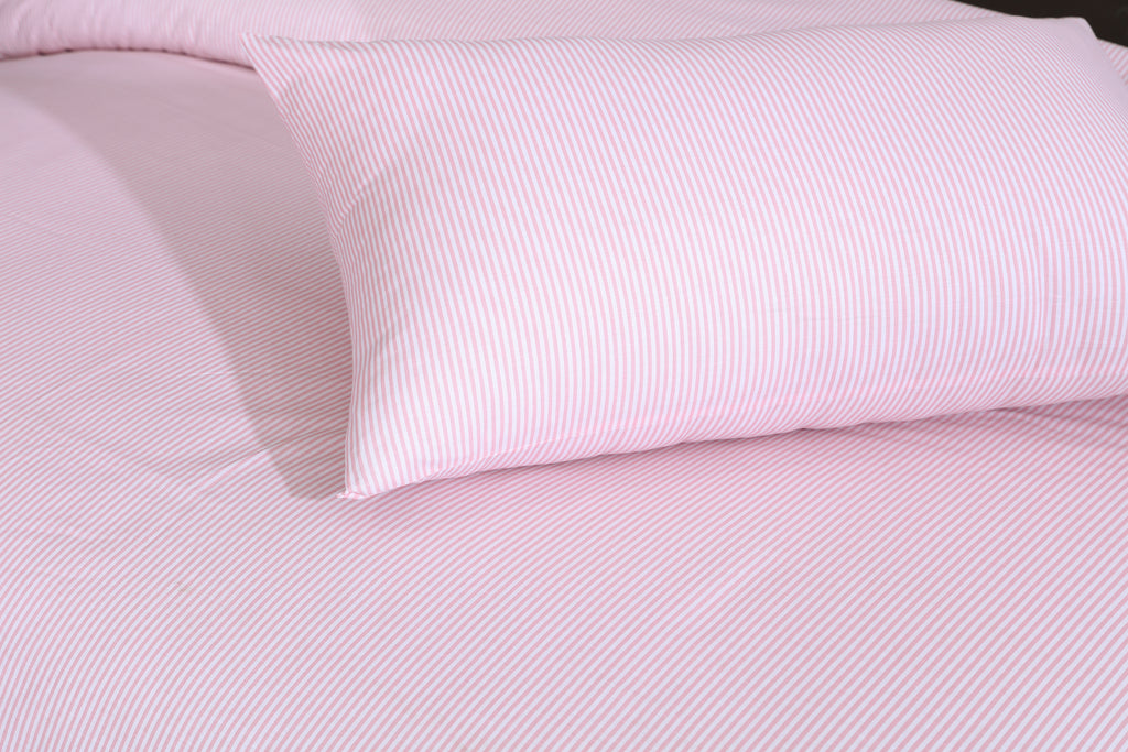 Pink Stripes- Bed Sheet Set