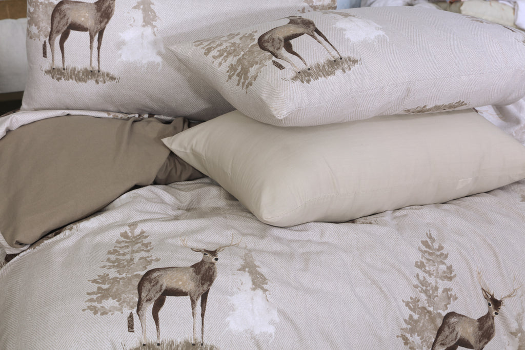Winter Stag- Flannel 6 Pcs Bed Set
