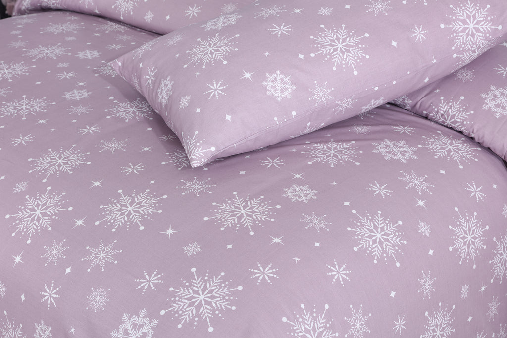 Lush Snow Flake-Lilac-Duvet Cover Set