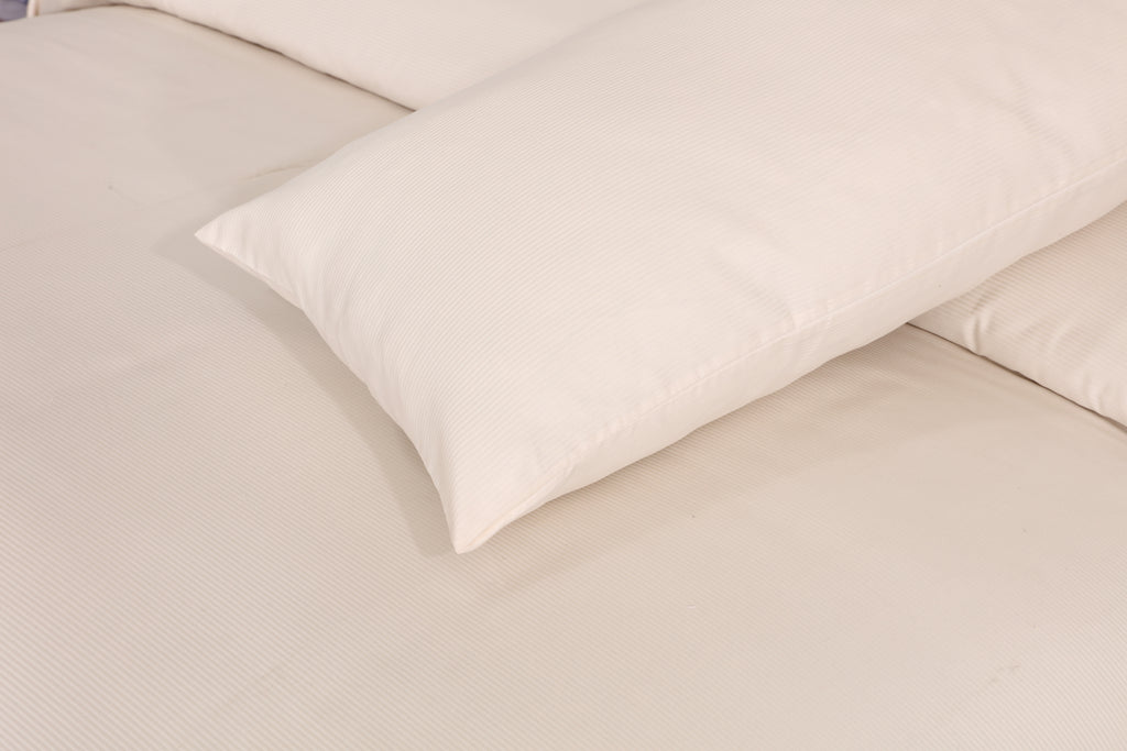 Cream Solid-Bed Sheet Set