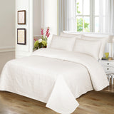 Behrens Cream Check-Bed Sheet Set-Sateen