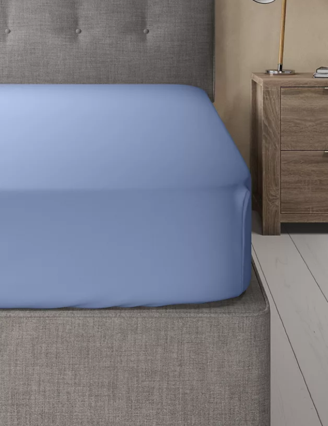 Powder Blue-Basic Fitted Sheet