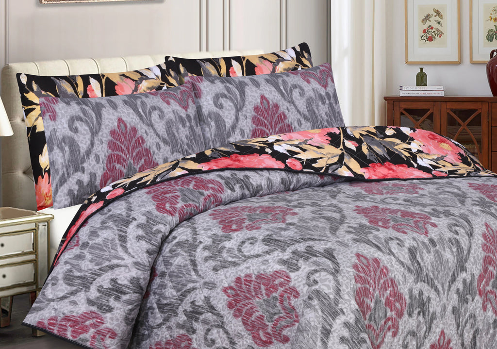 Floramatic-Bedspread (Reversible)