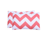 Abstract Coral-Pack of 2 Pillow Cases