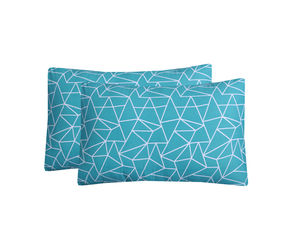 Blue Artistic-Pack of 2 Pillow Cases