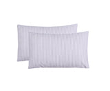 Grey Stripe-Pack of 2 Pillow Cases