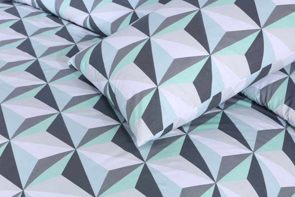 Green Diamond-Pack of 2 Pillow Cases