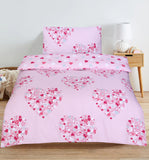 Pink Hearts-Duvet Cover Set (Single)