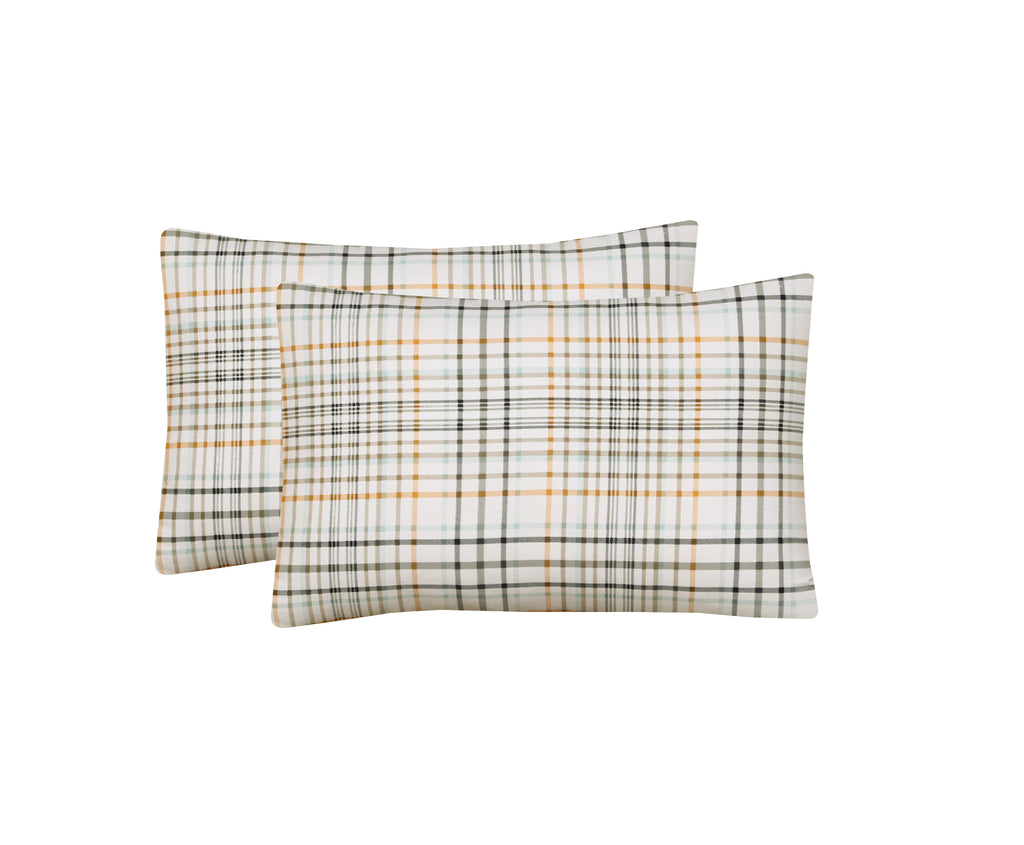 Soothing Check-Pack of 2 Pillow Cases