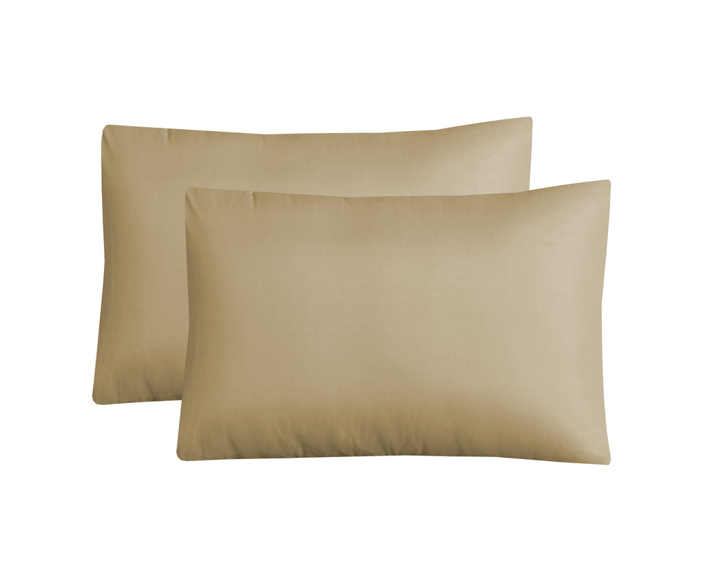 Taupe Luxury-Pack of 2 Pillow Cases