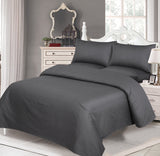 Behrens Grey Narrow Stripe-Bed Sheet Set-Sateen