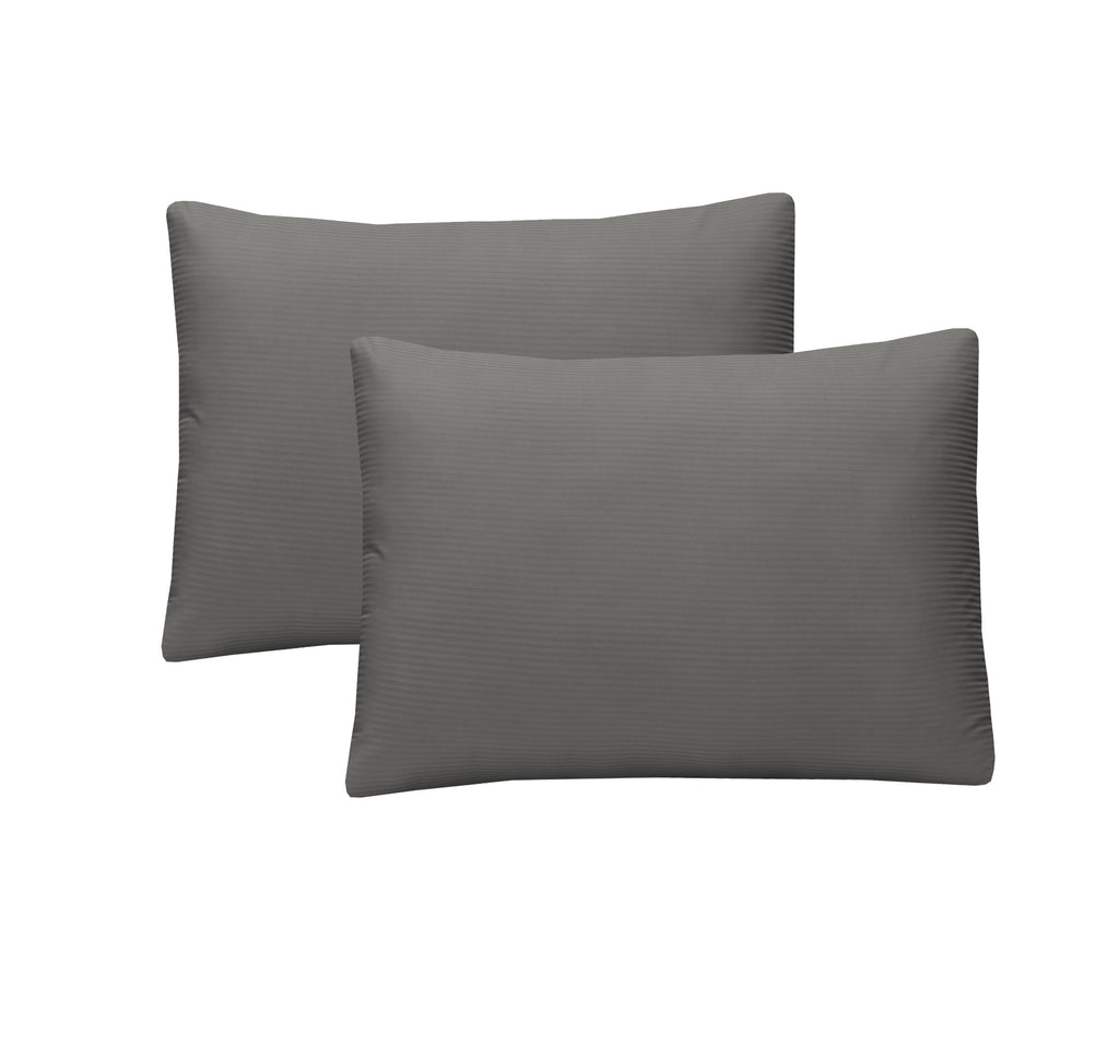 Grey-Pack of 2 Euro Sham