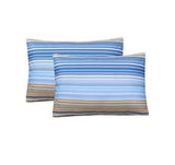 Printed Blue Lines-Pack of 2 Pillow Cases
