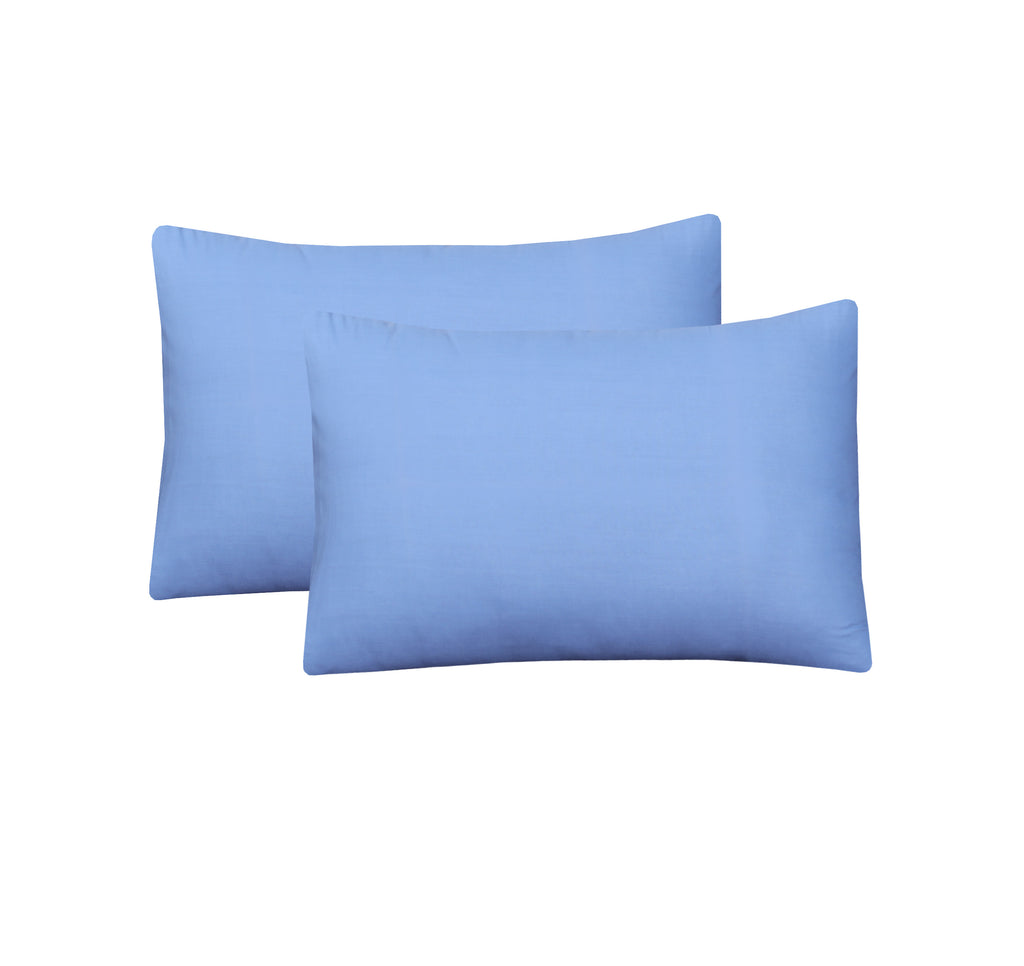 Soft Blue-Pack of 2 Pillow Cases