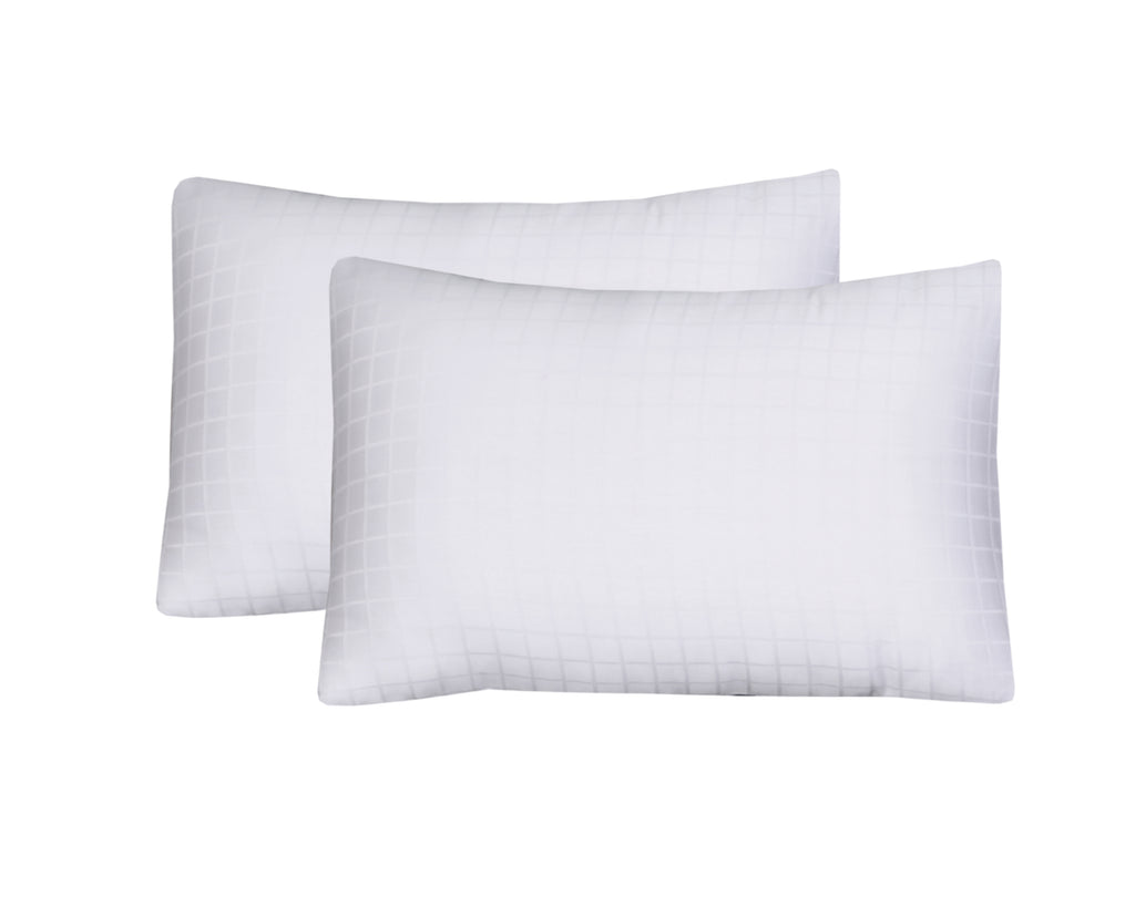 Behrens White Check-Pack of 2 Pillow Cases