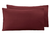 Maroon Luxury-Pack of 2 Pillow Cases