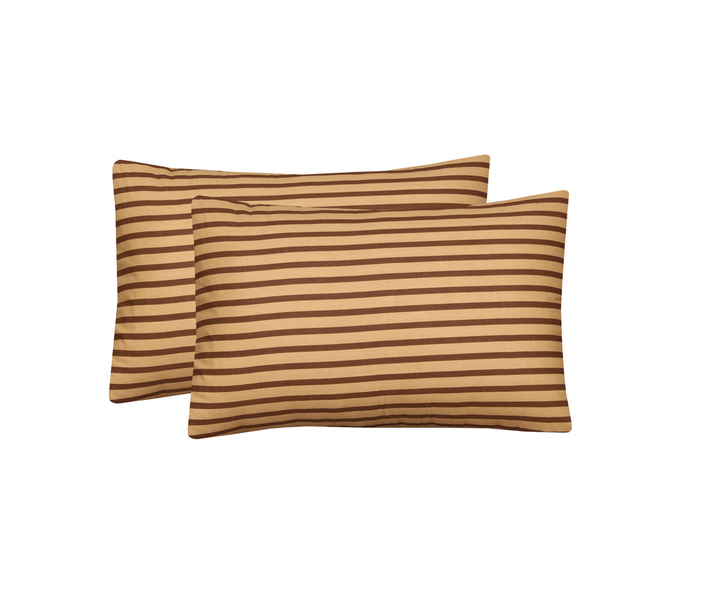 Brown Lining-Pack of 2 Pillow Cases