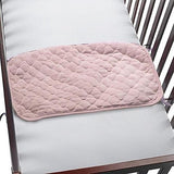Waterproof Quilted Sheet Saver Pad For Baby Crib-Pink