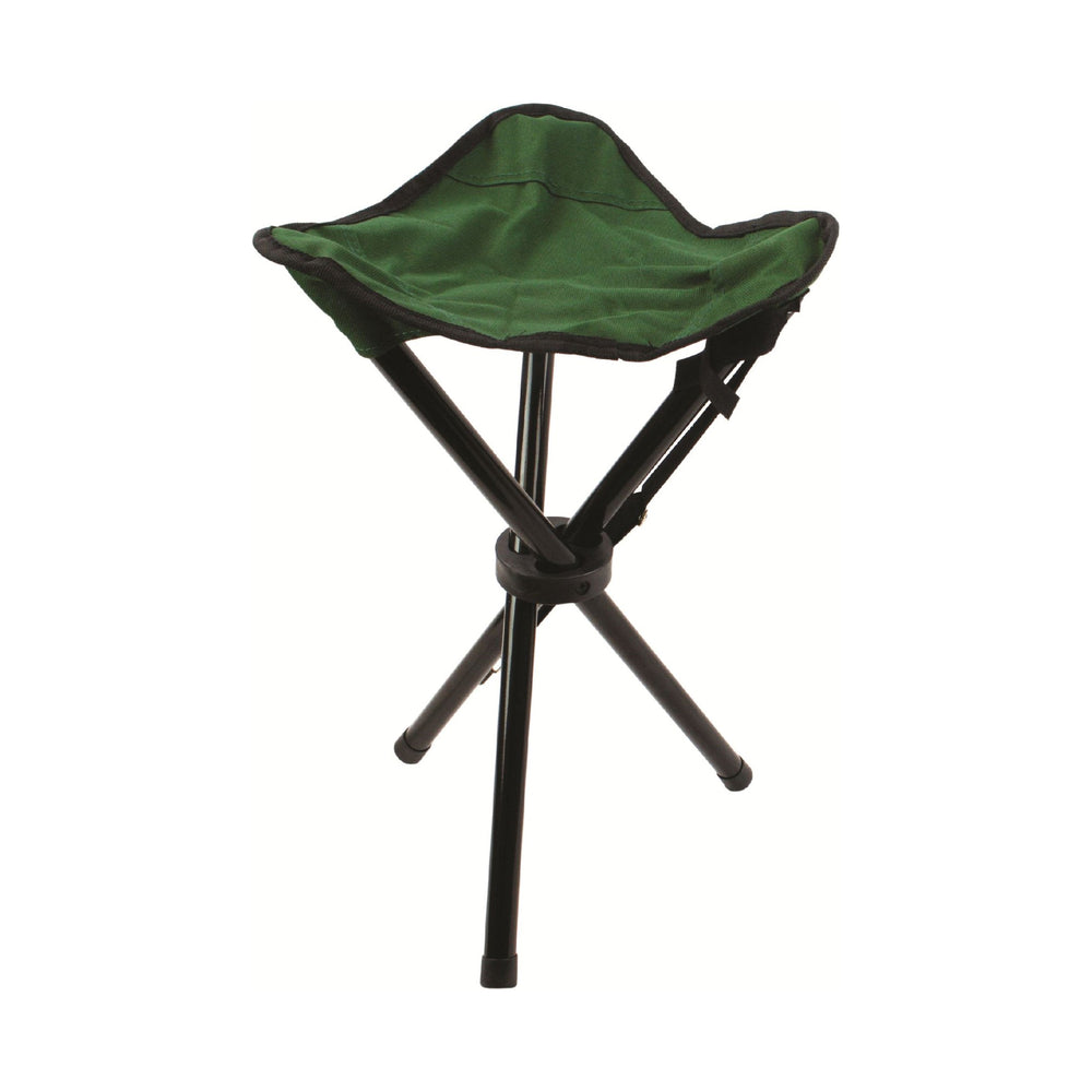 Steel Tripod Stool Green